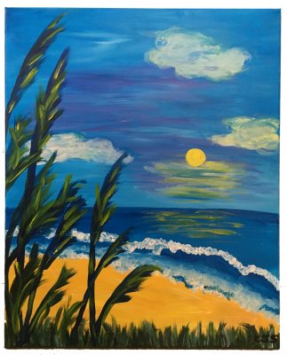 CANVAS MOUNTING SEASCAPE